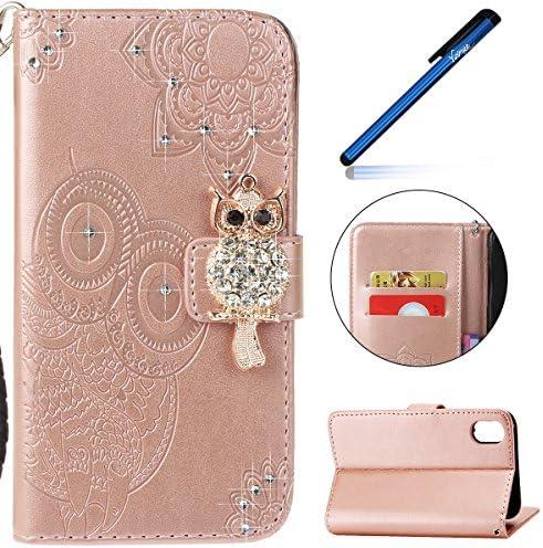 3abaa312d9f0c1 ... Ysimee Apple iPhone X Étui en Cuir Case Luxe DiaFemmet Chouette  Portefeuille Folio Leather Flip Case Cover Wallet Pouch Protection Coque  avec Souple ...