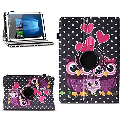 Xido Z120 Z110 X111 X110 Tablet Tasche Schutzhülle hochwertiges Kunstleder Hülle Standfunktion 360° Drehbar Cover Universal Case, Farben:Motiv 4