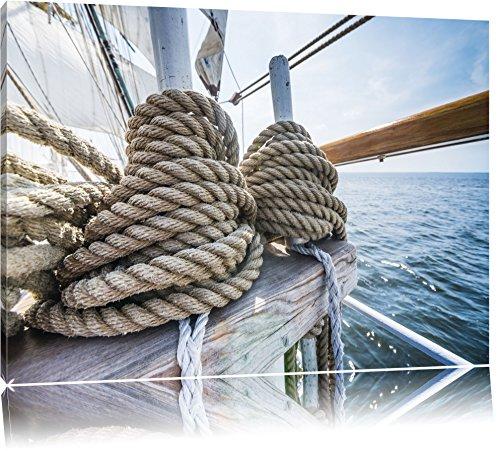 Tau auf einem Schiff Format: 100x70 auf Leinwand, XXL riesige Bilder fertig gerahmt mit Keilrahmen,...
