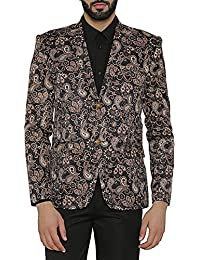 Wintage Men's Imported Rayon Tailored Fit Printed Party / Festive Blazer Coat Jacket