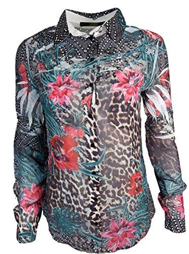 Guess Damen Tunika W72H69W70Q0, Mehrfarbig (Havana Fusion Combo), Gr. XS - Guess Print-tunika