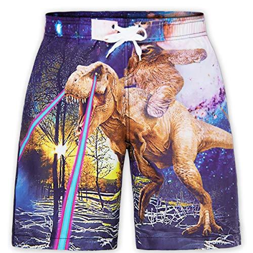 RAISEVERN Boys Dinosaur Swim Trunks Tablas Secado