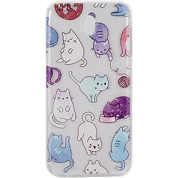 COZY HUT Samsung Galaxy J5 2017 Custodia, Morbido TPU Cover Cristallo limpido Trasparente Slim Anti Scivolo Protezione Posteriore Case Antiurto per Samsung Galaxy J5 2017 - Colore Cat