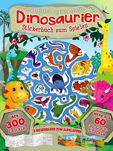 Dinosaurier: Stickerbuch zum spielen