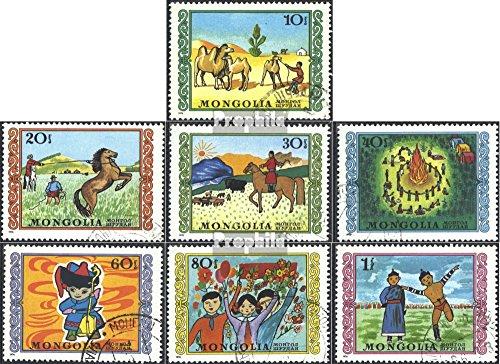 Prophila Collection Mongolei 998-1004 (kompl.Ausg.) 1976 Kinderzeichnungen (Briefmarken für Sammler)