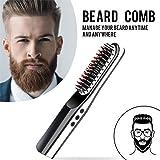 Baiwka Intelligent USB Charge Barbe Lisseur Peigne,Portable Hommes Rapide Barbe Lissage Peigne,Batterie Au Lithium…