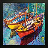 PPD Paintings with Picture frame for wall. Frame size (12 inch x 12 inch, Special Effect Textured)