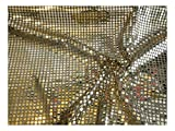 Fabrics-City GOLD/SCHWARZ HOCHWERTIG PAILETTEN STOFF PAILLETTENSTOFF 6MM STOFFE, 2433