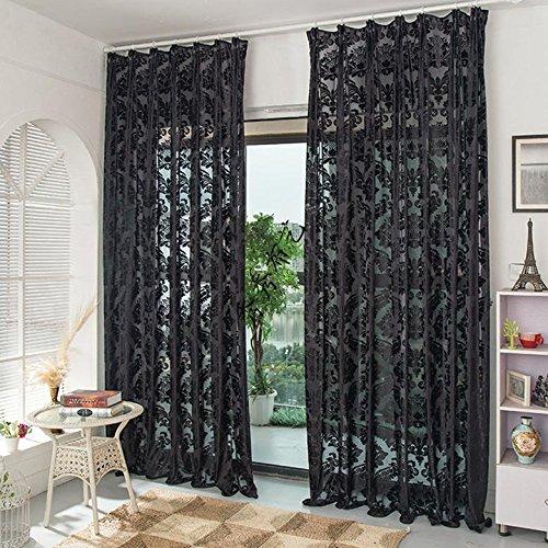 et Top Tüll Vorhänge Window Vorhang Sheer Blackout Cortinas Für Wohnzimmer ()