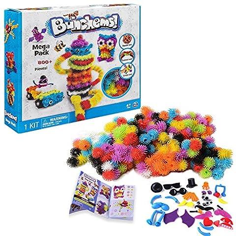 Kamidi DIY Kids Education Toys Bunchems 800pcs Magic Toys Mega Pack Squish Baby Toys Anniversaire ou cadeau de Noël