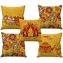 Hand Made Design HD Printed Cushion Covers 24 by 24 Set of 5