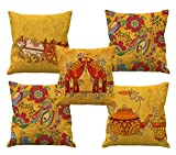 #7: Hand made design HD printed cushion covers 24 by 24 set of 5
