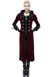 dda3b65f29b0ca ... Sexy Persönlichkeit Neuheit Schwarz Mantel Mit Gürtelschnalle Steampunk  Lady Cocktail Jacke… EUR 80,09 · Devil Fashion Damen Gothic Vampir Hoher  Kragen ...