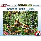 Schmidt - 58188 - Puzzle Classique - La Jungle Des Tigres - 1500 Pièces