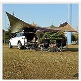 L&Z Auvent Imperméable De Remorque/Tente Portative D'auvent De La Voiture SUV/Auvent D'abri De Soleil Pour Camper 550 * 560CM