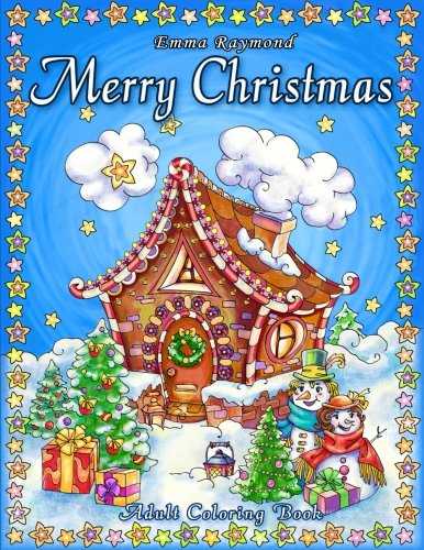 Merry Christmas Adult Coloring Book par Happy Coloring