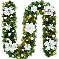 2 7m Weihnachtsgirlande Tannengirlande Beleuchtung Kunstlich