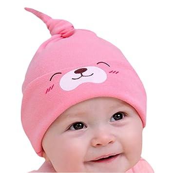 18e128b91e3 Happy Cherry - Bonnet de Nuit Calotte de Sommeil en Coton Chapeau Visière  Masque Oeil Chaud Mignon Casquette Beanie Dormir pour Bébé Enfant - Taille  ...