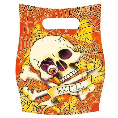 enkopf Skull (orange) (Totenkopf Pinata)