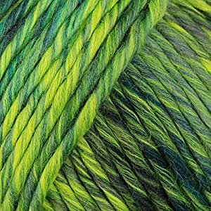 Lang Yarns Mill Big 16 Pelote mélange laine/acrylique Vert fluo
