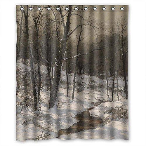 bakteriell Schöne Landschaft Landschaft Gemälde, Vorhänge Dusche, Breite x Höhe/152,4x 182,9cm/W H 150von 180cm, Polyester, Best für Verwandte ()