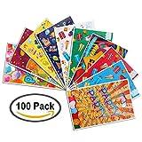 Zauber 100 Partytüten mit Tragegriff für Kinder Geburtstag oder Mottparty // Tüten für Mitgebsel