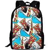 Lässiger Oxford Backpack,Rucksack,Personalisiert Laptoptasche,Rucksack Hai Essen Pizza Meer Mens...