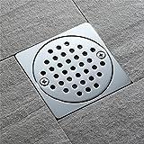 Haixng Quadratische Duschboden Drain, Messing Badezimmerfliesen in Den Bodenbelag-Kanal, mit Herausnehmbaren Filter Abdeckung verchromt Chromoberfläche eingefügt