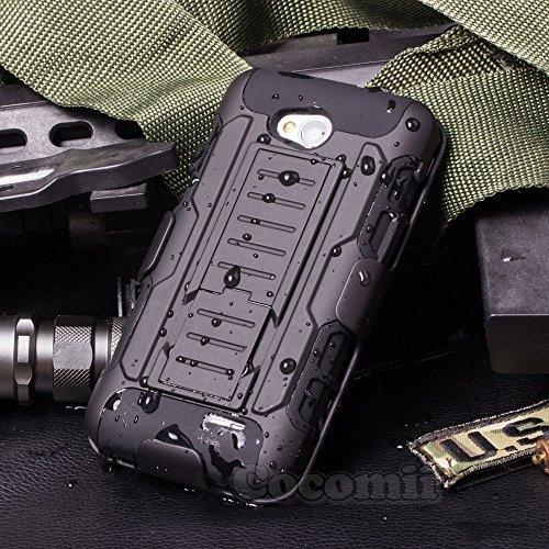 Cocomii Robot Armor LG L90 Hülle [Strapazierfähig] Erstklassig Gürtelclip Ständer Stoßfest Gehäuse [Militärisch Verteidiger] Ganzkörper Solide Case Schutzhülle for LG L90 (R.Black)