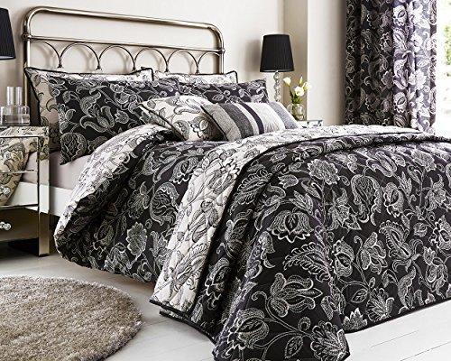 Luxuriöser Bettwäsche Bettbezug Serie Duchess Crushed Velvet Bettwäsche Bettbezug-Set in Oyster mit gratis Kissen Fall, Boudoir Cushion -