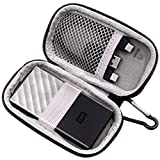 PAIYULE Custodia Rigida Compatibile per WD 512GB / 256GB / 1TB / 2TB Archiviazione Portatile My Passport SSD - USB 3.1 - Nero-Grigio - WDBKVX5120PSL-WESN