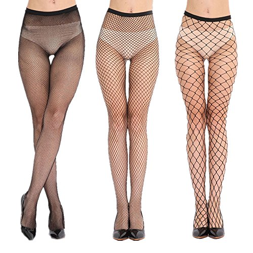 Women Fishnet Black Tights Vesgantti Female Net Pattern Pantyhose,Creative Fish Scale Mermaid Makeup Halloween Makeup Fashion Essential One Size