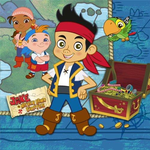 Hallmark Disney Jake und die Nimmerland Piraten Getr-nke Servietten