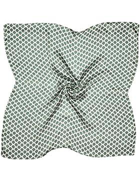 Bees Knees Fashion - Bufanda - Bufanda Cuadrada De Seda Fina Pequeña Estampada En Blanco Gris
