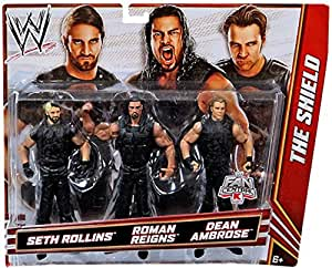 WWE THE SHIELD: Seth Rollins, Roman Reigns, Dean Ambrose Exclusive 3 Pack
