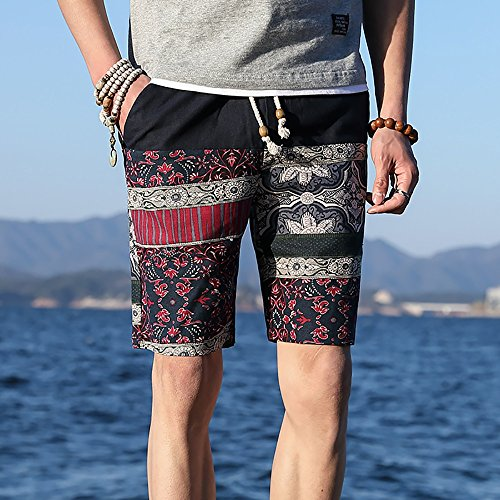 9ae6a086fc3d Limiz Beach pants national wind five pants men summer summer men's shorts  casual linen pants trend