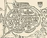 Ken Welsh / Design Pics – Panoramic View Of Canterbury Engalnd In The Sixteenth Century. Photo Print (40,64 x 33,02 cm)