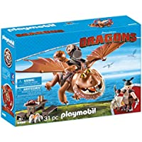 Playmobil, DreamWorks Dragons 9460 Fishlegs and Meatlug Action Figure, Boys, Girls, Multi-Colour