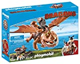 Cómo entrenar a tu Dragón Fishlegs and Meatlug Barrilete y Patapez, (Playmobil 9460)