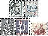 Prophila Collection Jugoslawien 926,942,970,971,972 (kompl.Ausg.) 1960/61 Lenin, Atomenergie, Armee u.a. (Briefmarken für Sammler) Militär