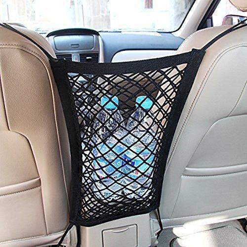 CDCDG GW Universal Auto Rücksitznetz Schutznetz Organizer Netz mit 4 Haken für Flasche Kinder Spielzeug