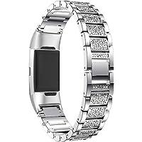 Aottom Cinturino Compatibile per Fitbit Charge 4/Fitbit Charge 3, Metallo Cinturini Gioiello Donna,Braccialetto…
