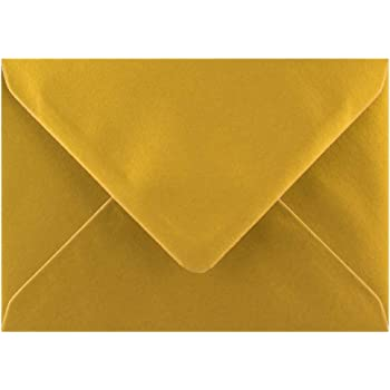 Golden Yellow 82mm x 113mm Gummed 100gsm C7//A7 Card Coloured Envelopes