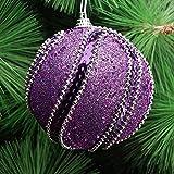 Amphia - Weihnachtsrhinestone-Glitter-Flitter-Kugel-Weihnachtsbaum-Verzierungs-Dekoration,Klebrige Perlenkette aus Paillettenperlen
