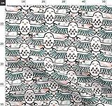 Mint, Schwarz Und Weiß, Spoonflower0293, Leinen, Ägypten