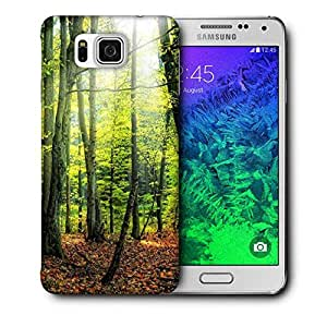 Snoogg Green Forest Printed Protective Phone Back Case Cover For Samsung Galaxy SAMSUNG GALAXY ALPHA