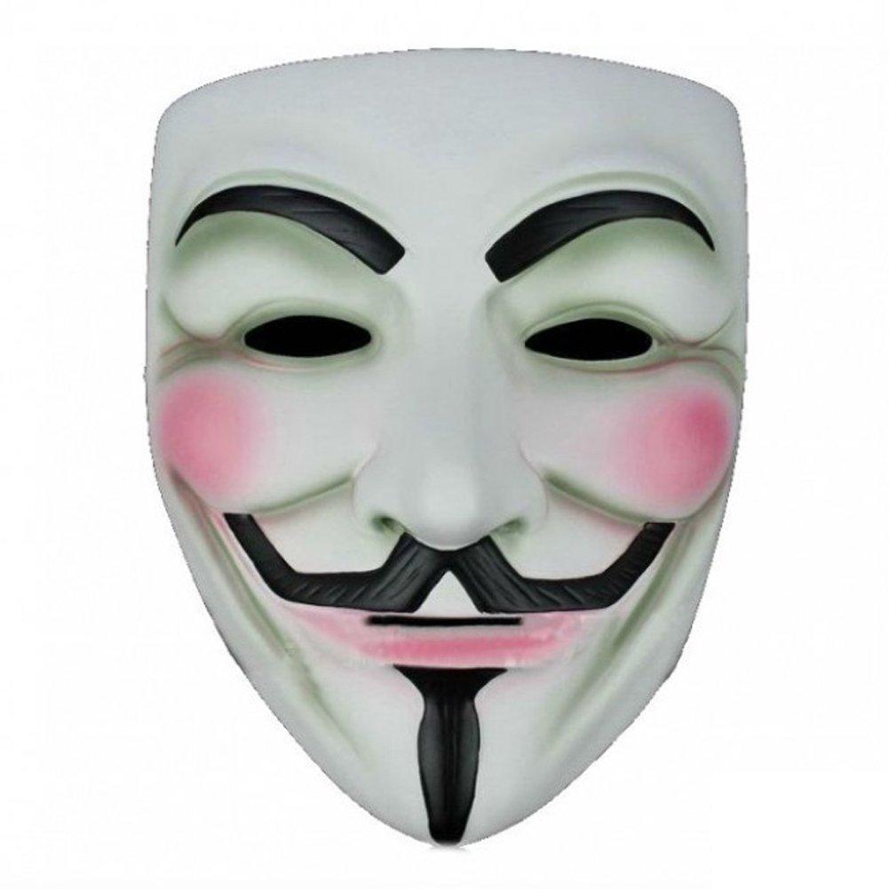 2X Anonymous V For Vendetta Guy Fawkes Fancy Dress Halloween Mask ...