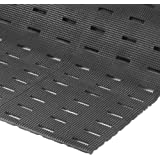 """NoTrax Vinyl 420 Cushion-Dek Anti-Fatigue Drainage Mat, for Wet Areas, 2' Width x 6' Length x 7/16"""" Thickness, Black by NoTrax"""