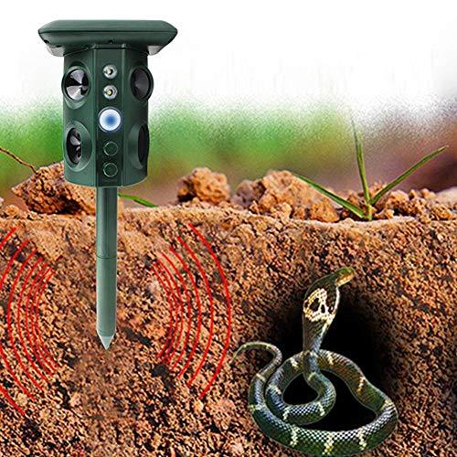 TARTIERY Ultraschall-Tiervertreiber Solar Mole Ultraschallaufladung Garten Rasen Insekt Pestschutz Infrarotsensor Multifunktions-wasserdichte Einheit ohne Strahlung