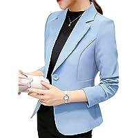 ORANDESIGNE Donna Elegante Manica Lunga Colletto Cappotto Ufficio Business Blazer Top Gilet Corto OL Carriera Giacca…